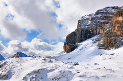 View on the Sella Group, Italy Royalty Free Stock Images