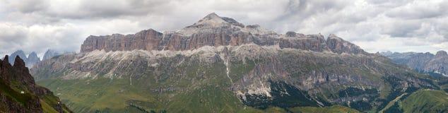 View of Sellagruppe or Gruppo di Sella, South Tirol Stock Photos