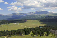 View of Seminsky mountain pass from the top Royalty Free Stock Photo