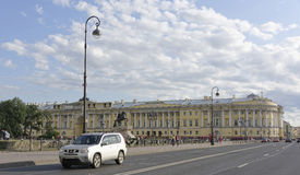 View of the Senate Square in St. Petersburg Stock Photography