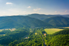 View from Seneca Rocks, Monongahela National Forest, West Virgin Stock Photography
