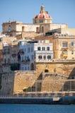 The view of Senglea peninsula, Malta. Royalty Free Stock Photos