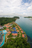 View of the Sentosa island in Singapore Royalty Free Stock Photography