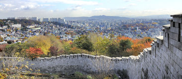 View of the Seonggwak fortress wall Stock Images