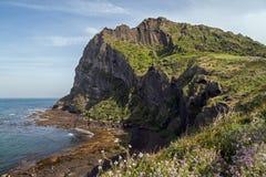 View of Seongsan Ilchulbong on Jeju Island Stock Photography