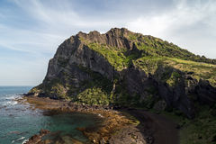 View of Seongsan Ilchulbong on Jeju Island Royalty Free Stock Images