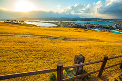 View from Seongsan Ilchulbong moutain in Jeju Island, South Kore Stock Photos
