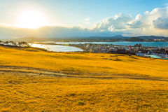 View from Seongsan Ilchulbong moutain in Jeju Island, South Kore. A Stock Image