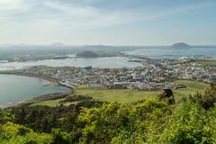 View from Seongsan Ilchulbong Peak on Jeju Island Royalty Free Stock Image