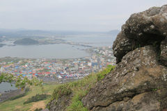View of Seongsan Sunrise Peak Royalty Free Stock Photography