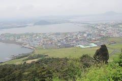 View of Seongsan Sunrise Peak Royalty Free Stock Images