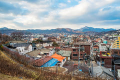 View of Seoul from Naksan park Stock Photography