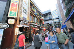 View of Seoul stree Myeongdong in South Korea Stock Images