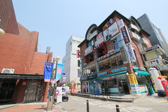 View of Seoul stree Myeongdong in South Korea Royalty Free Stock Photos