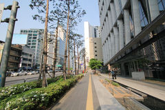 View of Seoul stree Myeongdong in South Korea Stock Photography