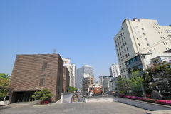 View of Seoul stree Myeongdong in South Korea Royalty Free Stock Image