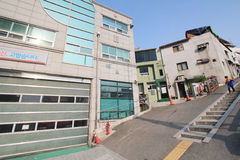 View of Seoul stree Myeongdong in South Korea Royalty Free Stock Images