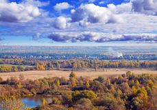 View of september landscape Royalty Free Stock Photos