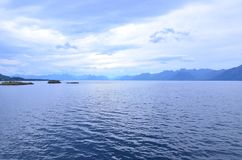 View of the serene sea. Amazing view of the serene sea Royalty Free Stock Image