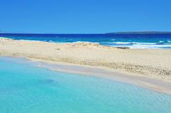 Ses Illetes Beach in Formentera, Balearic Islands, Spain Stock Photo