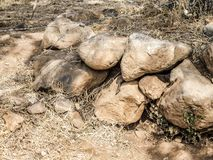 View of a set of stones in a wonderful and sunny day. In the archaeological zone of Guachimontones in Teuchitlán in the state of Jalisco Mexico stock images