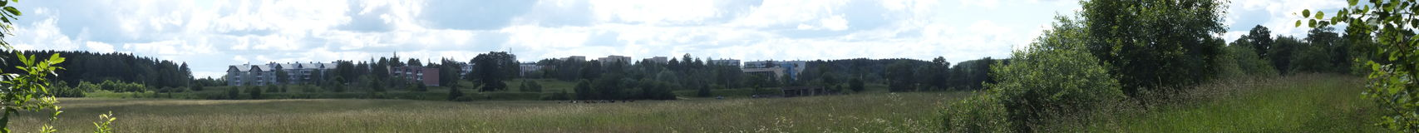 View of settlement Belorusskiy. Royalty Free Stock Photos