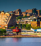 View of the Seven Foot Knoll Lighthouse from Federal Hill in Bal Royalty Free Stock Photos