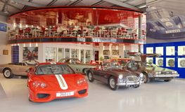 Modern classic car showroom, london. View of several modern classic cars in a in London showroom, London, europe Stock Photo