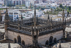 View of Sevilla from Cathedral from Sevilla Royalty Free Stock Images