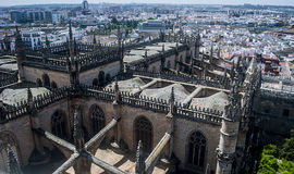 View of Sevilla from Cathedral from Sevilla Stock Image