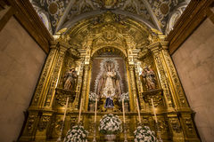 La Macarena church, Seville, andalusia, spain. A view in SEVILLE, ANDALUSIA, SPAIN, MAY, 22, 2017 : interiors  details of  La Macarena church may 22, 2017 in Stock Images