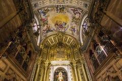 La Macarena church, Seville, andalusia, spain. A view in SEVILLE, ANDALUSIA, SPAIN, MAY, 22, 2017 : interiors  details of  La Macarena church may 22, 2017 in Stock Photo