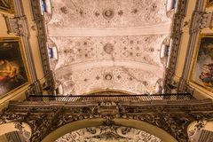 Hospital de la caridad church, Seville, spain. A view in SEVILLE, ANDALUSIA, SPAIN, MAY, 26, 2017 : interiors  of  hospital de la caridad church may 26, 2017 in Stock Image