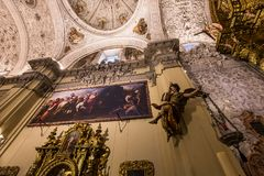 Hospital de la caridad church, Seville, spain. A view in SEVILLE, ANDALUSIA, SPAIN, MAY, 26, 2017 : interiors  of  hospital de la caridad church may 26, 2017 in Stock Photography