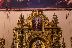 Hospital de la caridad church, Seville, spain. A view in SEVILLE, ANDALUSIA, SPAIN, MAY, 26, 2017 : interiors  of  hospital de la caridad church may 26, 2017 in Stock Photos