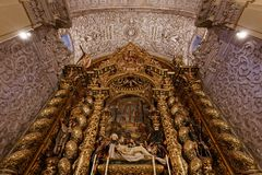 Hospital de la caridad church, Seville, spain. A view in SEVILLE, ANDALUSIA, SPAIN, MAY, 26, 2017 : interiors  of  hospital de la caridad church, may 26 2017, in Stock Photos