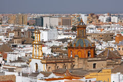 View on Seville from Cathedral, Sevilla. Spain Stock Photography