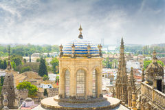 View of seville cathedral Stock Image