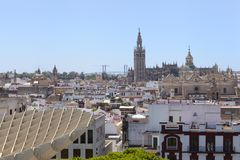 View of Seville from Metropol Parasol royalty free stock photos