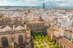 View of Seville. Nice view of View of Seville in Spain Stock Photography