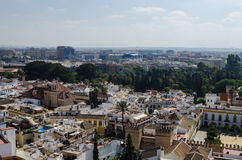 View of Seville: retro and modern, Andalusia, Spain Stock Photos