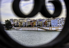 View of Seville from Triana Bridge Stock Photography