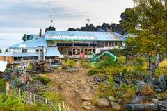 Shad Tchup Ling Buddhist monastery on mountain Kachkanar. Russia Stock Photos