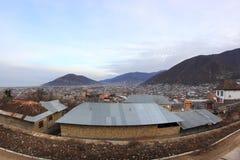 The view of Shaki cuty, Azerbaijan. Shaki is a city in northwestern Azerbaijan, in the rayon of the same name. Shaki is situated in northern Azerbaijan on the stock photos