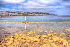 View from Shaldon to Teignmouth Devon England UK in HDR Royalty Free Stock Images