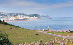 View from Shaldon to Teignmouth Devon England UK Stock Photo