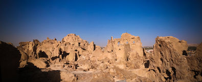 View of Shali old city ruins, Siwa oasis in Egypt Royalty Free Stock Photography