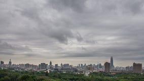 Jinan, view from Shandong Hotel stock photos