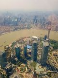 View from the Shanghai Tower in Shangai, China royalty free stock photography