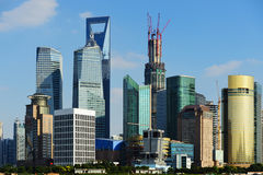 View of Shanghai World Financial Center. From the Bund Royalty Free Stock Photos